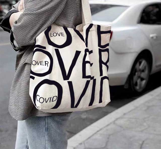 love over covid love is more contagious than covid loveovercovid.com the love over covid bag collection